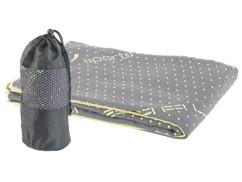 Serviette yoga en microfibres antidérapante - Gris