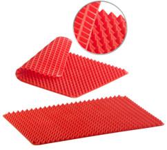 Set de 2 tapis de cuisson en silicone avec revêtement antiadhésif et picots