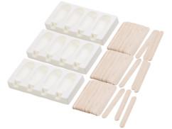 Set de 3 moules en silicone 70ml et 72bâtonnets - Pour 4 glaces