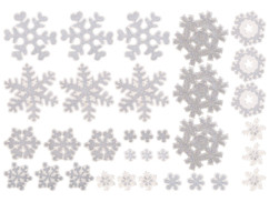 pack de stickers scintillants avec gel sans trace pour vitres fenetres miroirs pour déco de noel