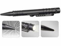 stylo multifonction de sécurité en aluminium avec brise-vitre et lampe de poche par visortech