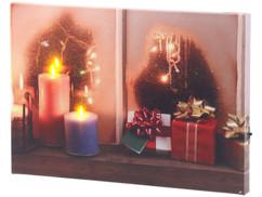 """Tableau lumineux """"Une fenêtre à Noël"""" 30 x 20 cm"""
