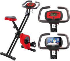 Vélo d'appartement pliable HT-516 avec support pour tablette