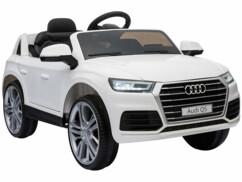 Voiture pour enfant modèle Audi Q5 limitée à 7 km/h.