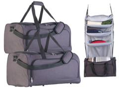 Ensemble de 2 sacs de voyage pliables avec organiseur à suspendre intégré