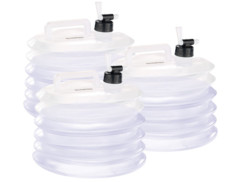 3 bidons à eau pliables pour le camping / jardinage - 10 L