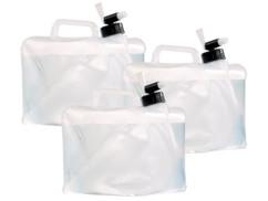 3 bidons pliables cubiques avec robinet intégré - 5 L