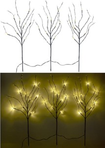 3 branches décoratives lumineuses 24 LED