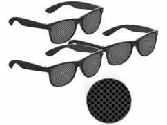 3 lunettes à grille pour gymnastique et détente oculaire