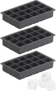 3 moules à glaçons en silicone 500 ml pour 15 glaçons 3 x 3 x 3 cm
