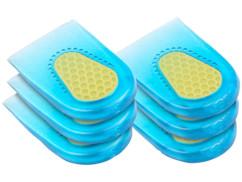 3 paires de coussinets d'amortissement en gel de silicone pour talons