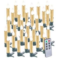 30 bougies LED pour sapin de Noël avec télécommande - coloris Or