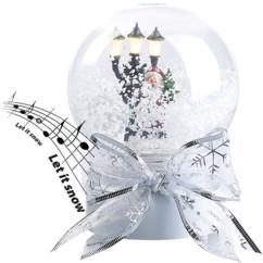 Boule à neige lumineuse tactile avec Père Noël chantant