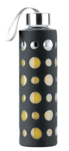 Bouteille en verre borosilicate 550 ml - Avec housse silicone Noire