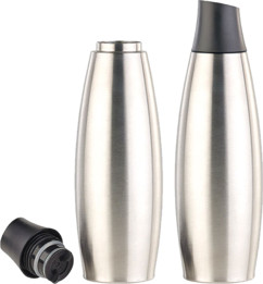 2 bouteilles isothermes design 650 ml en acier inoxydable