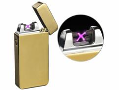 Briquet électronique USB à double arc électrique - Doré