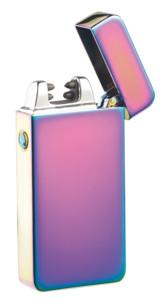 """Briquet électronique USB à double arc électrique - Mauve """"tâche d'huile"""""""