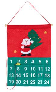 calendrier de l'avent à accrocher avec petite poches pour cadeaux et bonbons