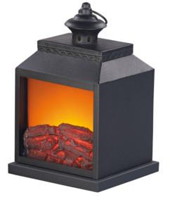 Cheminée décorative avec effet flamme réaliste - Piles