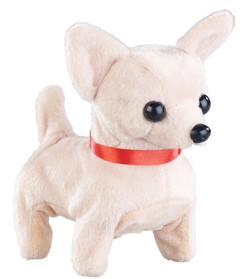 mini peluche animée de chien chihuahua qui bouge et aboie playtastic