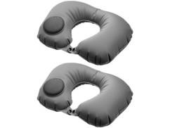 Lot de 2 coussins de nuque gonflables avec pompe à air intégrée