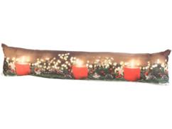 Coussin de porte à 3 LED à motifs bougies, 90 x 20 cm