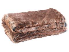 couverture en fausse fourrure imitation zibeline 150 x 200 m en polyacrilique brun