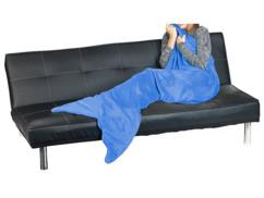 Couverture queue de sirène bleue 180 x 70 cm pour adulte