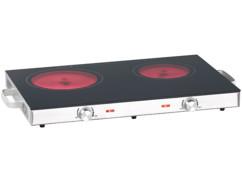 double plaque de cuisson vitroceramique d'appoint 2 feux 2800w rosenstein pour chambre etudiant