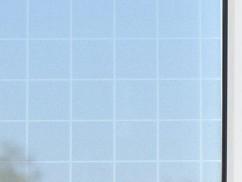 Film auto-adhésif décoratif pour vitre et fenêtre - ''Quadrillage''