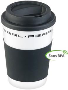 """Gobelet """"Coffee to go"""" à double-paroi avec couvercle en silicone - 350 ml - x10"""