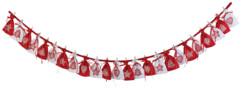 Guirlande calendrier de l'Avent avec 24 sachets XL à remplir