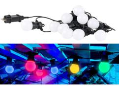 Guirlande guinguette 4,50 m 10 ampoules LED 3W - 4 couleurs