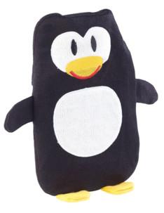 Housse animal en peluche pour bouillotte 1 L Pingouin