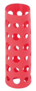 Housse en silicone 20 cm pour bouteille en verre - Rouge