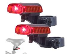 Lampe de sécurité à LED rouge avec câble de chargement USB - x2