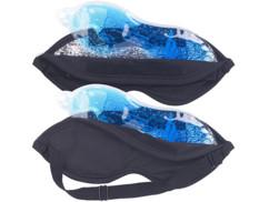 Lot de 2 masques occultant 2 en 1 avec coussinet amovible en gel chaud/froid