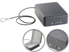 Mini coffre-fort voyage & voiture avec câble de sûreté - 1 L