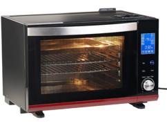 mini four électrique avec option cuisson vapeur et chaleur tournante avec ecran tactile rosenstein