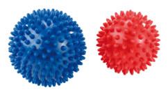 lot de 2 boules de massage à picots pour reflexologie mains pieds préhension