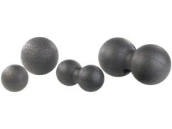 Pack de 4 balles de massage et d'exercice Ø 8 et 12 cm