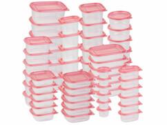 Pack de 60 boîtes de conservation en plastique - 10 formats