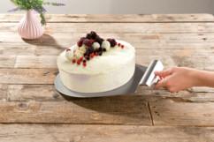 pelle a tarte sous plat pour tarte gateau patisserie en acier inoxydable pour service