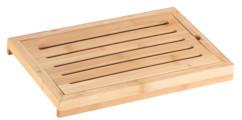 Planche à découper en bambou avec collecteur de miettes
