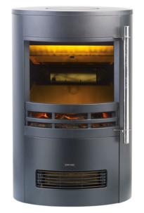 faux poele electrique design moderne avec effet flammes realistes et thermostat integré 2000w carlo milano