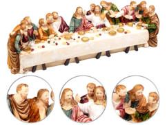 Sainte Cène en polyrésine avec 13 figurines peintes à la main