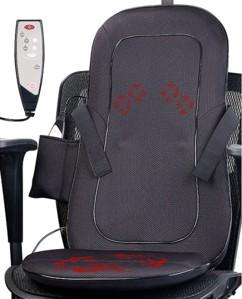 Siège de massage shiatsu chauffant et vibrant MA-500 12V / 220V