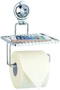 Support à ventouse pour salle de bain - Pour papier toilettes