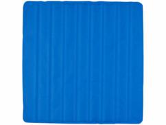 Surmatelas rafraîchissant, 90 x 90 cm, bleu