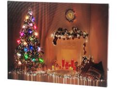 """Tableau lumineux à LED couleur changeante """"Noël"""" 50 x 38 cm"""